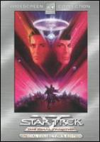 Cover image for Star trek V [DVD] : the final frontier / [presented by] Paramount Pictures ; screenplay by David Loughery ; produced by Harve Bennett ; directed by William Shatner.
