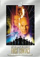 Cover image for Star trek [DVD] : first contact / Paramount Pictures presents ; screenplay by Brannon Braga & Ronald D. Moore ; produced by Rick Berman ; directed by Jonathan Frakes.