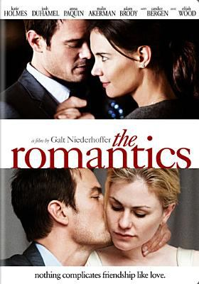 Cover image for The romantics [DVD] / Paramount Famous Productions, Four of a Kind Productions, and Benaroya Pictures present ; a Team Todd, Plum Pictures, and Benaroya Pictures production ; in association with Tax Credit Finance LLC ; a film by Galt Niederhoffer ; co-producers, Cecilia Kate Roque, Todd J. Labarowski, Cynthia Coury ; produced by Jennifer Todd [and others] ; written and directed by Galt Niederhoffer.