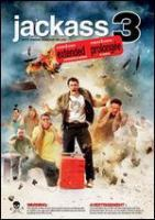 Cover image for Jackass 3 [DVD] / Paramount Pictures and Mtv Films present ; a Dickhouse production ; produced by Jeff Tremaine, Spike Jonze, Johnny Knoxville ; directed by Jeff Tremaine.