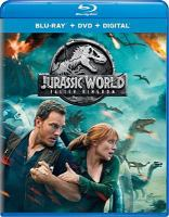 Cover image for Jurassic World. Fallen kingdom [blu-ray] / Universal Pictures and Amblin Entertainment present ; in association with Legendary Pictures/Perfect World Pictures ; produced by Frank Marshall, Patrick Crowley, Bel©♭n Atienza ; written by Derek Connolly & Colin Trevorrow ; directed by J.A. Bayona.