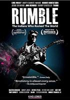 Cover image for Rumble [DVD] : the Indians who rocked the world / a Rezolution Pictures film ; directed by Catherine Bainbridge ; produced by Catherine Bainbridge, Christina Fon, Linda Ludwick, Lisa M. Roth ; written by Catherine Bainbridge & Alfonso Maiorana ; produced in association with The Movie Network ; produced in association with Aboriginal Peoples Television Network.