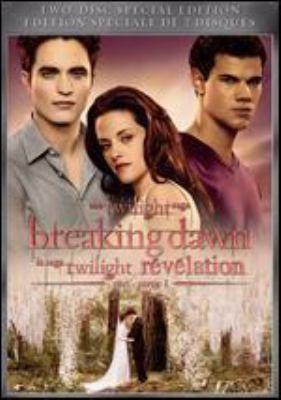 Cover image for Twilight saga. Breaking dawn part 1 [DVD] / Summit Entertainment, Sunswept Entertainment, TSBD Canada Productions ; director, Bill Condon ; writers, Melissa Rosenberg, Stephenie Meyer.