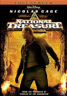 Cover image for National treasure [DVD] / Walt Disney Pictures ; Jerry Bruckheimer Films ; Junction Entertainment ; Saturn Films ; produced by Jerry Bruckheimer, Jon Turteltaub ; screenplay, Jim Kouf and Cormac Wibberley & Marianne Wibberley ; story, Jim Kouf, Oren Aviv & Charles Segars ; directed by Jon Turteltaub.