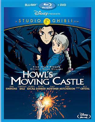 Cover image for Howl's moving castle [blu-ray] / Tokuma Shoten, Studio Ghibli, Nippon Television Network, Dentsu, Buena Vista Home Entertainment, Mitsubishi and Toho ; produced by Toshio Suzuki ; screenplay/directed by Hayao Miyazaki.