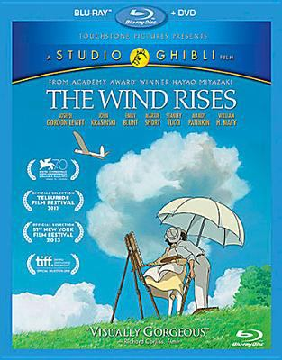 Cover image for The wind rises [blu-ray] / Touchstone Pictures presents a Studio Ghibli film [and others] ; producer, Geoffrey Wexler ; director, Gary Rydstrom ; produced by Toshio Suzuki ; original story, screenplay and directed by Hayao Miyazaki.