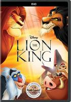 Cover image for The lion king [DVD] / Walt Disney Pictures presents ; directed by Roger Allers and Rob Minkoff ; produced by Don Hahn ; screenplay by Irene Mecchi and Jonathan Roberts and Linda Woolverton.