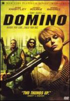 Cover image for Domino [DVD] / New Line Cinema and Samuel Hadida present ; a Scott Free, Davis Films production in association with Metropolitan Filmexport ; produced by Skip Chaisson ; Samuel Hadida, Tony Scott ; screenplay by Richard Kelly ; directed by Tony Scott.