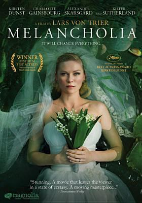 Cover image for Melancholia [DVD] / written and directed by Lars von Trier ; presented by Zentropa Entertainments27 ApS, Film i V©Þst ; produced by Meta Louise Foldager, Louise Vesth ; co-produced by Memfis Film International AB, Zentropa International Sweden AB, Slot Machine SARL, Liberator Productions SARL, Zentropa Internal K©œln GmbH ; also co-produced with Film i V©Þst, Arte France Cin©♭ma with the participation of SVT, Canal+, Centre National du Cin©♭ma et de l'Image Anim©♭e, Cin©♭cin©♭ma, Edition Video, Nordisk Film Cinema Distribution.