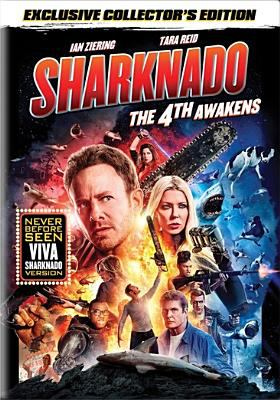 Cover image for Sharknado : the 4th awakens / Syfy presents ; The Asylum Productions ; produced by David Michael Latt ; written by Thunder Levin ; director, Anthony C. Ferrante.