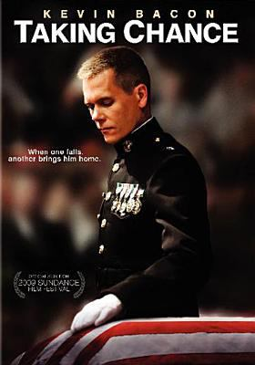 Cover image for Taking Chance [DVD] / HBO Films presents ; a Motion Picture Corporation of America and Civil Dawn Pictures production ; produced by Lori Keith Douglas ; screenplay by Lt. Col. Michael R. Strobl, USMC (Ret.) and Ross Katz ; directed by Ross Katz.