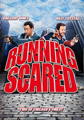 Cover image for Running scared [DVD] / a Turman-Foster Company production ; story by Gary Devore ; screenplay by Gary Devore and Jimmy Huston ; produced by David Foster and Lawrence Turman ; directed by Peter Hyams.