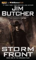 Cover image for Storm front [compact disc] / Jim Butcher.
