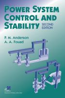 Cover image for Power system control and stability