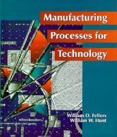 Cover image for Manufacturing processes for technology