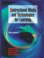 Cover image for Instructional media and technologies for learning