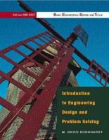 Cover image for Introduction to engineering design and problem solving