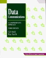 Cover image for Data communications : a comprehensive approach