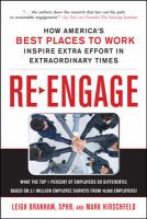 Cover image for Re-engage : how America's best places to work inspire extra effort in extraordinary times