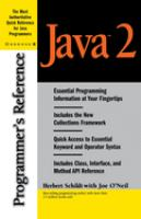Cover image for Java 2 : programmer's reference