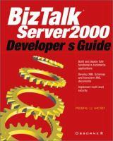 Cover image for BizTalk server developer's guide