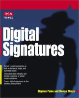 Cover image for Digital signatures