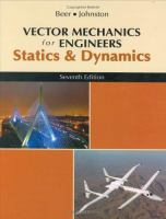Cover image for Vector mechanics for engineers : statics and dynamics