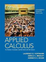 Cover image for Applied calculus for business, economics, and the social and life sciences