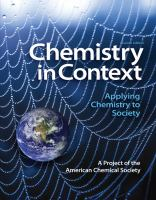 Cover image for Chemistry in context : applying chemistry to society