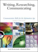 Cover image for Writing, researching, communicating : communication skills for the information age