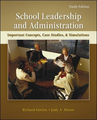 Cover image for School leadership & administration : important concepts, case studies, & simulations