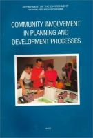 Cover image for Community involvement in planning and development processes