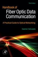 Cover image for Handbook of fiber optic data communication : a practical guide to optical networking