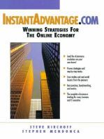 Cover image for Instant advantage.com : winning strategies for the online economy