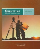 Cover image for Surveying : principles and applications