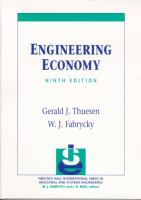 Cover image for Engineering economy