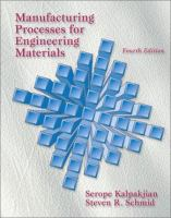 Cover image for Manufacturing processes for engineering materials