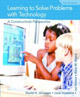 Cover image for Learning to solve problems with technology : a constructivist perspective