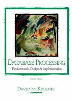 Cover image for Database processing : fundamentals, design and implementation