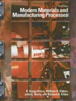 Cover image for Modern materials and manufacturing processes