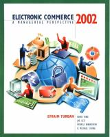 Cover image for ELECTRONIC COMMERCE : A MANAGERIAL PERSPECTIVE 2002