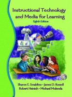 Cover image for Instructional technology and media for learning