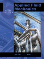 Cover image for Applied fluid mechanics