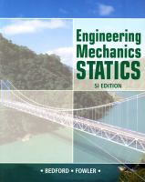 Cover image for Engineering mechanics : statics SI