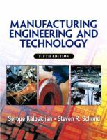 Cover image for Manufacturing engineering and technology