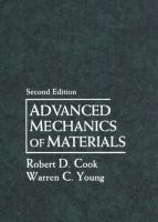 Cover image for Advanced mechanics of materials