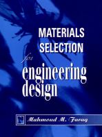Cover image for Materials selection for engineering design