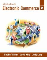 Cover image for Introduction to electronic commerce