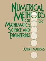 Cover image for Numerical methods for mathematics, science and engineering