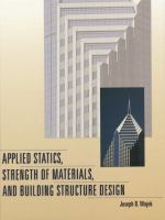 Cover image for Applied statics strength of materials and building structure design